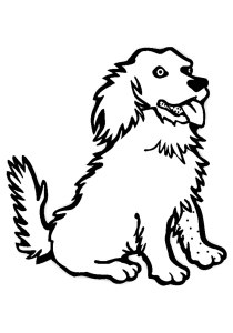 Dogs - Free printable Coloring pages for kids4