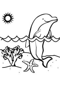 Dolphins - Free printable Coloring pages for kids3