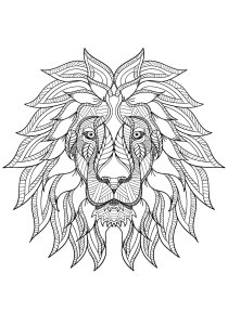 Lion - Free printable Coloring pages for kids1