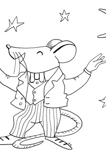 Mouse - Free printable Coloring pages for kids4