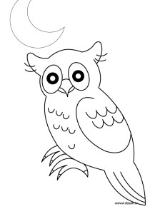 Owls - Free printable Coloring pages for kids19