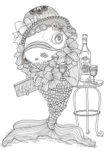 Pisces - Free printable Coloring pages for kids12