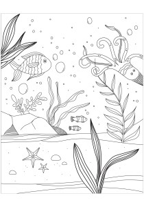 Pisces - Free printable Coloring pages for kids1