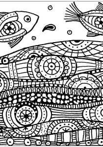 Pisces - Free printable Coloring pages for kids2