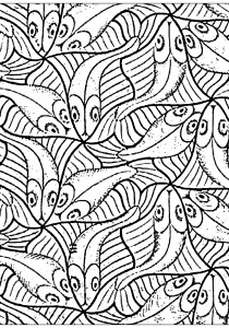 Pisces - Free printable Coloring pages for kids17