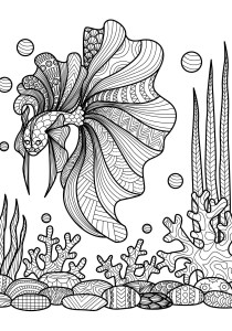 Pisces - Free printable Coloring pages for kids6