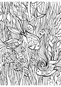 Pisces - Free printable Coloring pages for kids8
