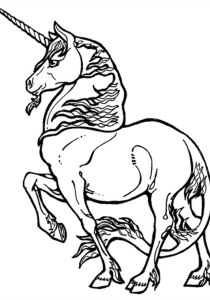 Unicorns - Free printable Coloring pages for kids8
