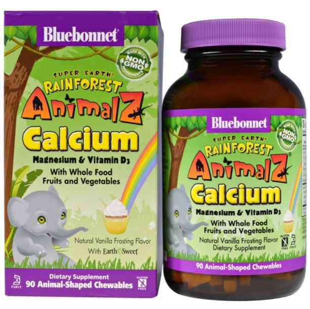 Жевательные таблетки Bluebonnet Nutrition, Rainforest Animalz
