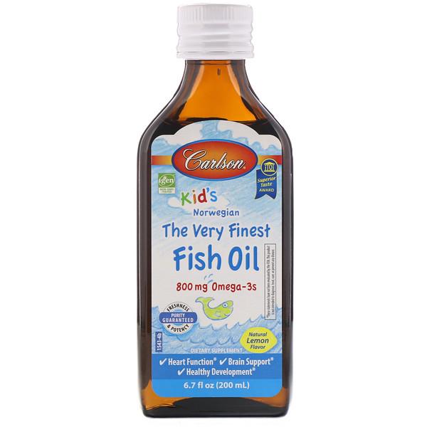 Жидкий рыбий жир для детей Carlson Lab