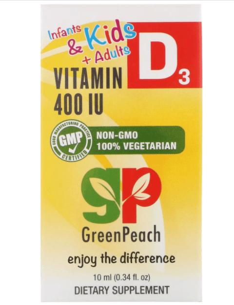 Жидкий витамин D3 GreenPeach