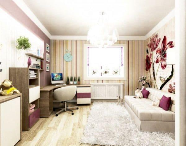 Дизайн детской комнаты 12 кв м фото