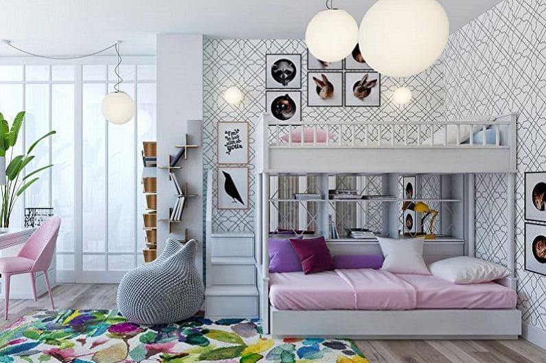 Дизайн детской комнаты для двоих девчат