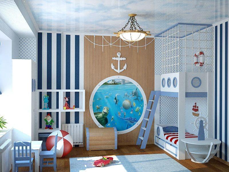 Обои в морском стиле для детской