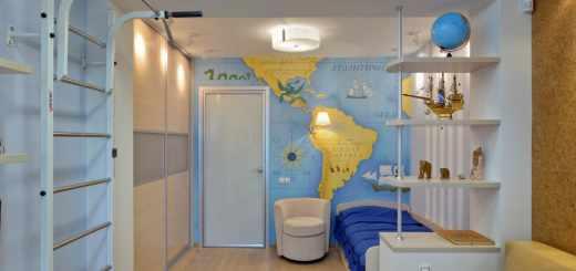 Интерьер детской комнаты для мальчишек