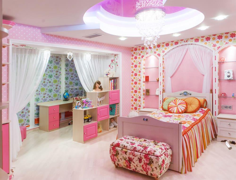 Интерьер детской комнаты девочке