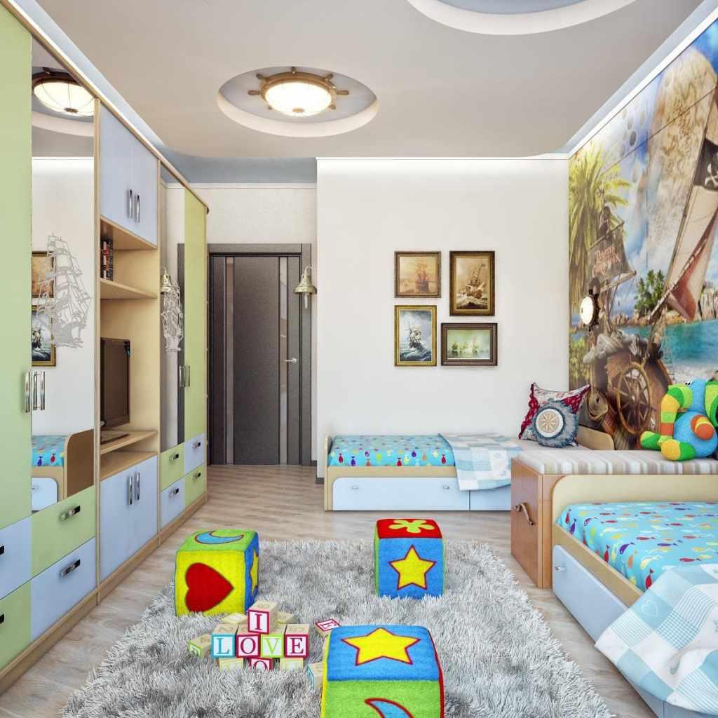 Дизайн детской для разнополых деток