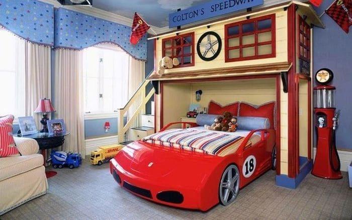 Необычная кровать для мальчика