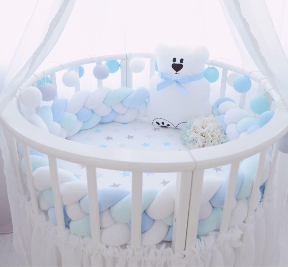 Круглая кроватка для мальчика