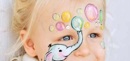 Детский аквагрим фото