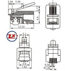 Rj11 Modular Plug RJ9 Modular Plug Wiring Diagram ~ Odicis