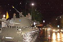 2006年クーデターの戦車部隊(9月19日)