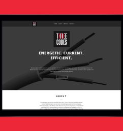 website for three codes an electrical company by ottawa graphic designer idapostle [ 2398 x 1810 Pixel ]