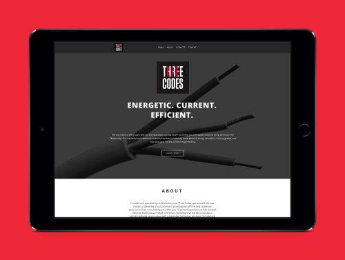 small resolution of website for three codes an electrical company by ottawa graphic designer idapostle