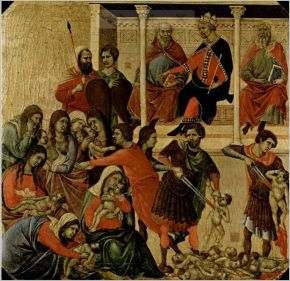 Massacre des Innocents par Duccio di Buoninsegna