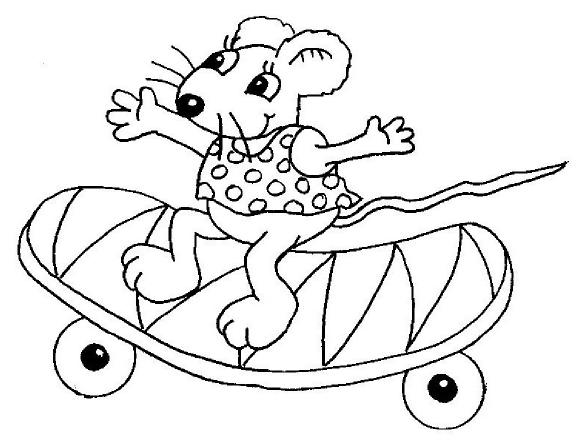 contes pour enfants coloriages de tibous coloriages animaux petites souris souris au skate