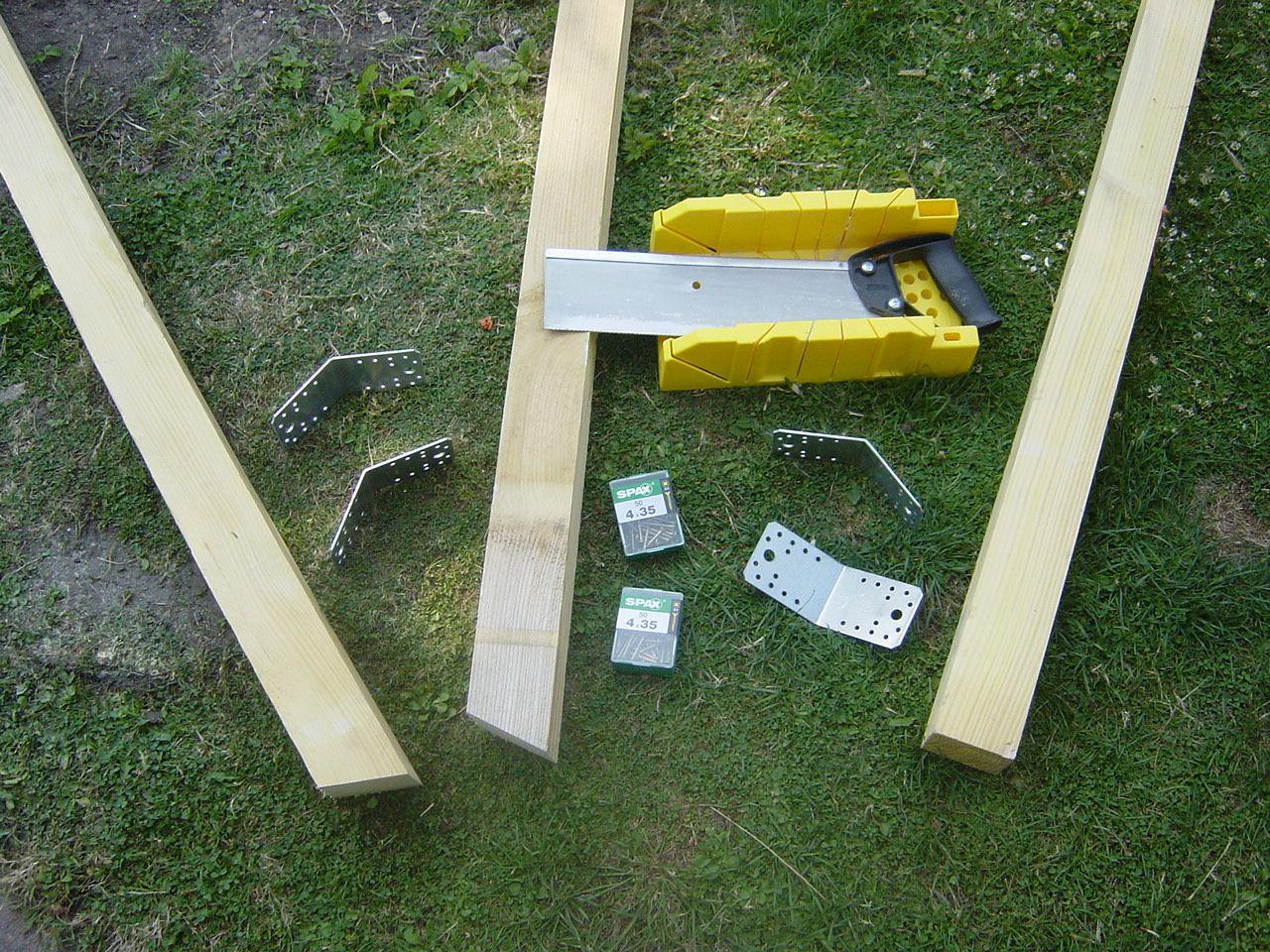 fabriquer un portique fabriquer une balan oire simple pour enfant. Black Bedroom Furniture Sets. Home Design Ideas