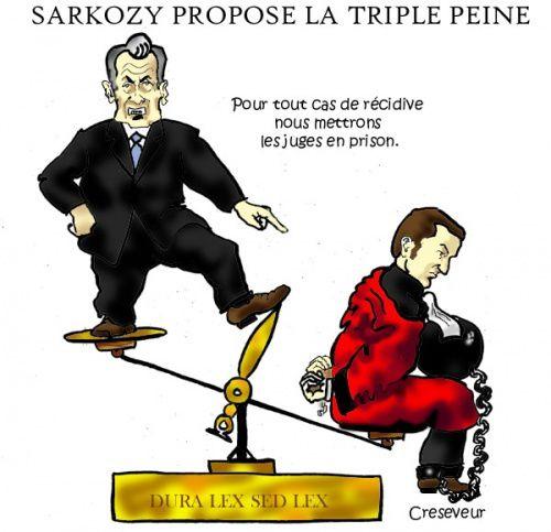 tags dessin de presse delucq dessin humour sarkozy magistrats
