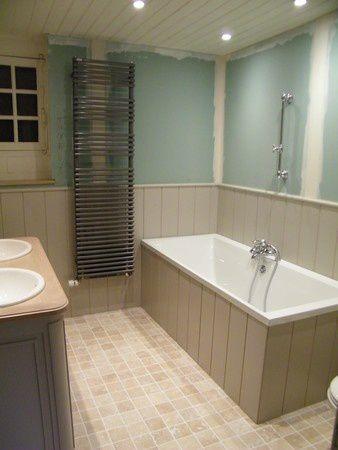 Lambris peints baignoire - Habillage baignoire pvc ...