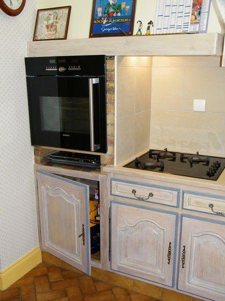 Une cuisine intgre relooke par une cruse  Atelier de lbniste C COGNARD Eure