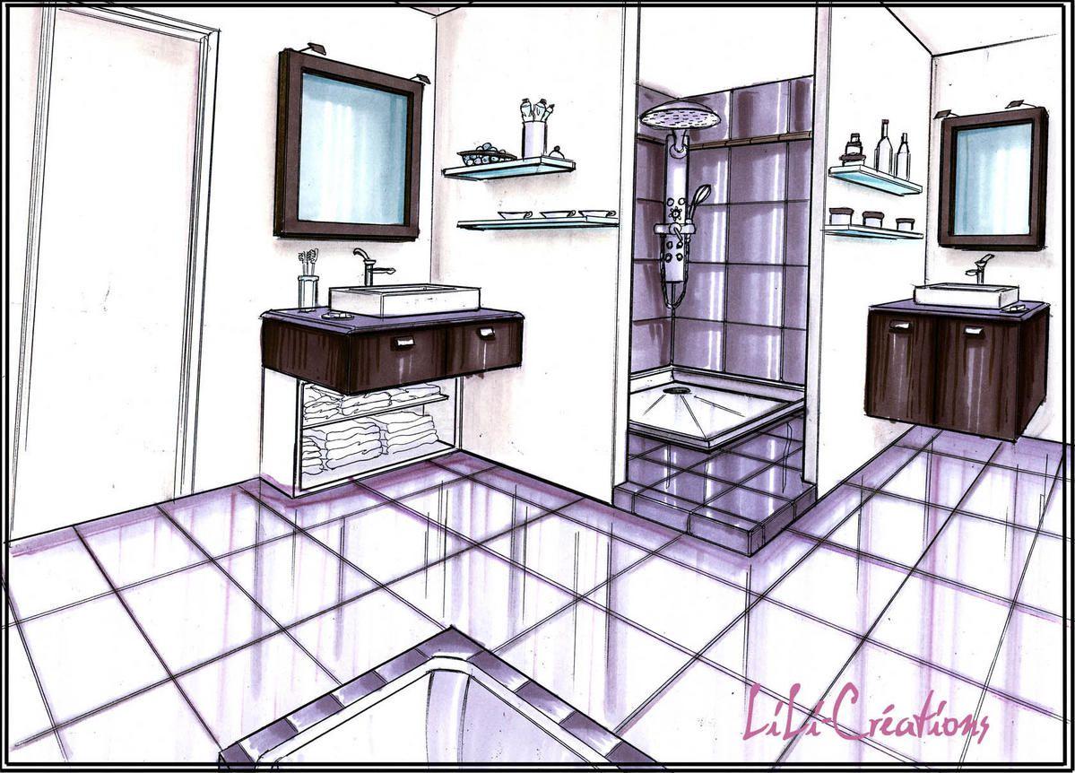 architecture d 39 int rieur dessin chambre en bazar dessin. Black Bedroom Furniture Sets. Home Design Ideas