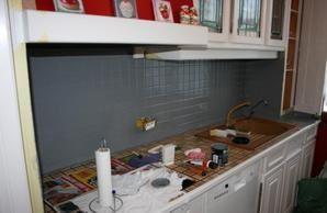 peindre un carrelage mural de cuisine - boisholz - Changer Un Plan De Travail De Cuisine