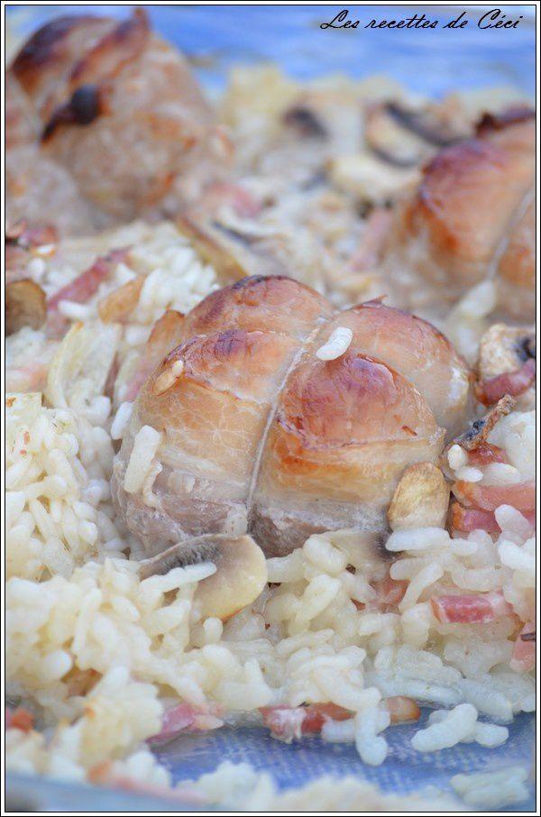 Cuisson Paupiette De Porc Au Four Simple : cuisson, paupiette, simple, Paupiettes, Champignons,, Recettes, Céci