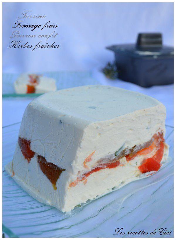terrine au fromage frais et au poivron confit les recettes de ceci