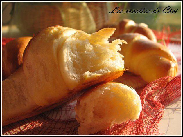 Croissants briochs  Les recettes de Cci