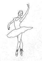 Ausmalbilder Tänzerin, Ballet   Malen und Zeichnen als Hobby