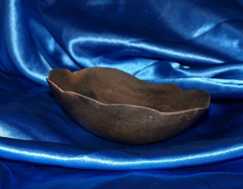 Schüssel - Keramik im Kaminofen gebrannt - Eierschale