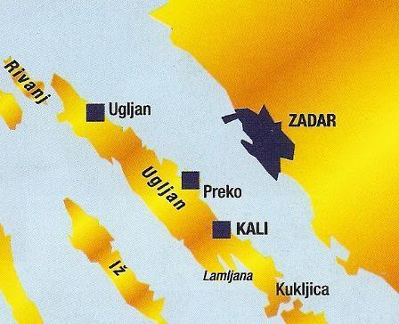 """Résultat de recherche d'images pour """"ugljan map villages"""""""
