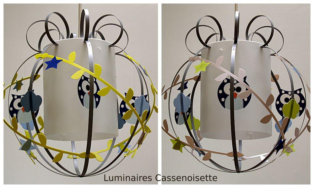hibou  Luminaire chambre enfant  Lampe Casse noisette