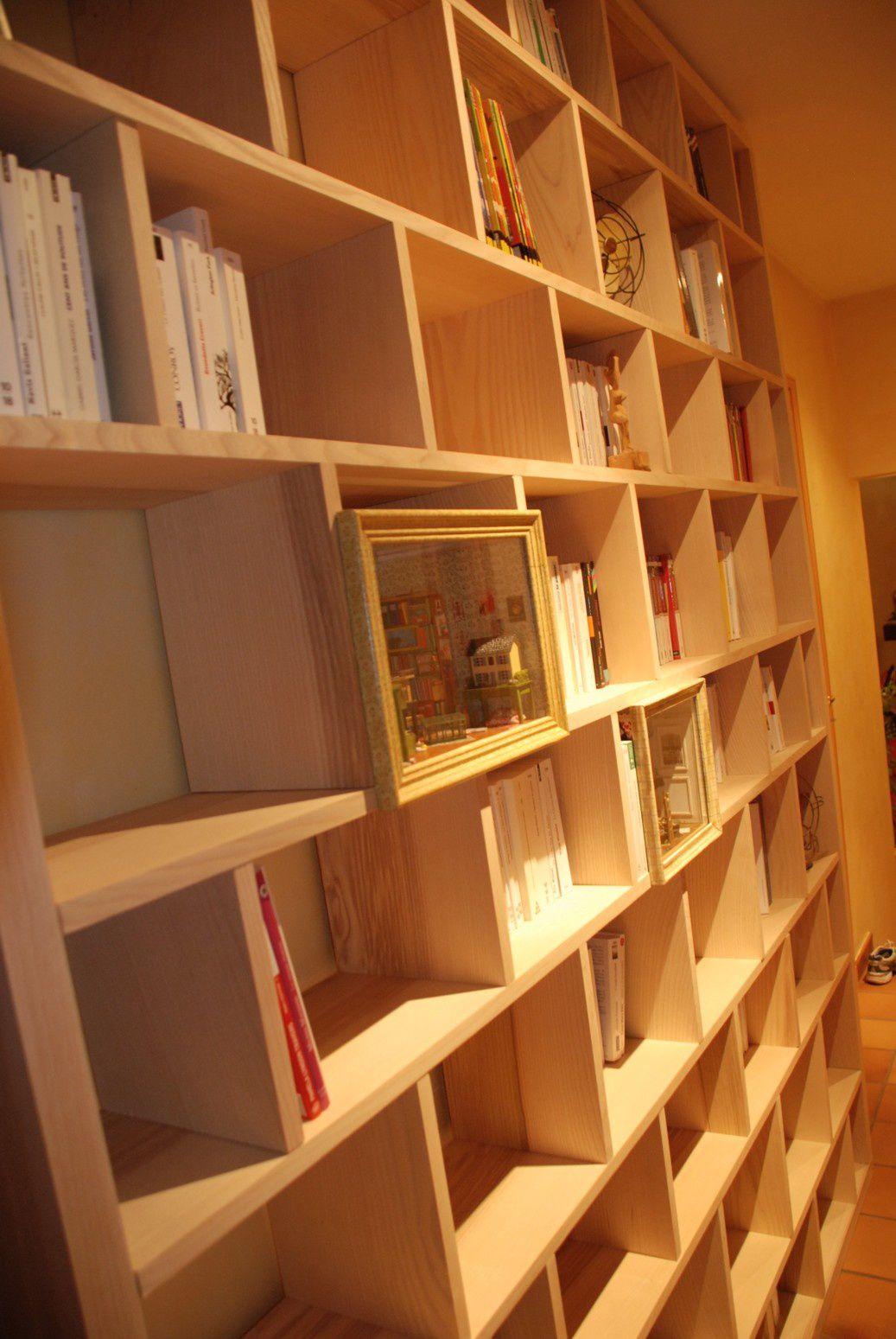 Bibliothque contemporaine BricK  Atelier POURQUOI PAS  Mobilier Design sur mesures