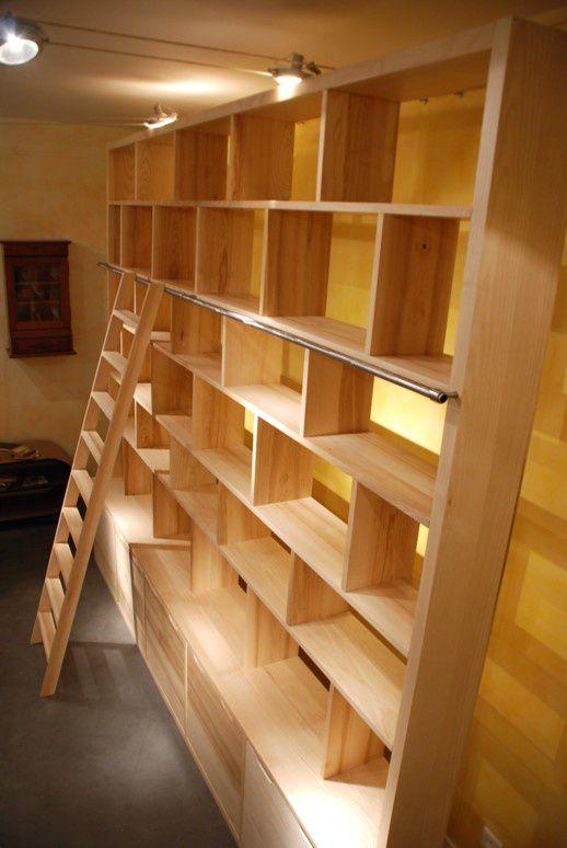 Bibliothque contemporaine BricK modle XXL  Atelier POURQUOI PAS  Mobilier Design sur mesures