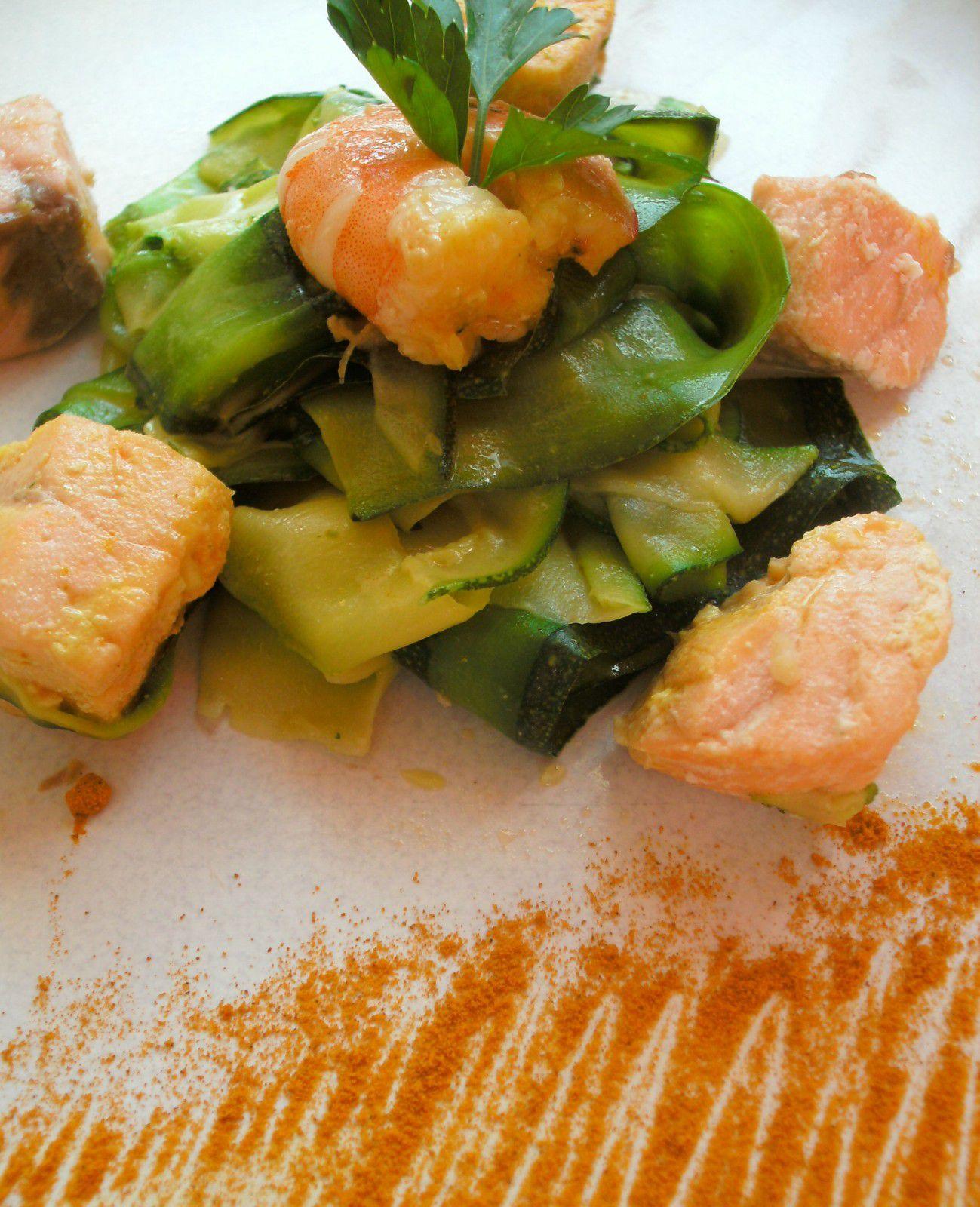 Que Manger Avec Du Saumon : manger, saumon, Tagliatelles, Courgettes, Saumon, Curcuma, Cuisine, Chocolat, Thermomix