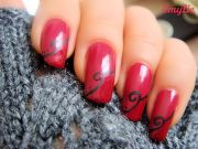 cherry berry nail art - les