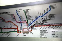 Chicago CTA Blue Line Map