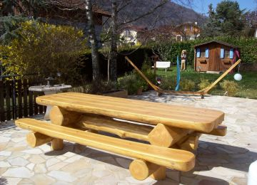 Table De Jardin En Bois Massif Suisse | Table De Jardin En Bois Avec ...