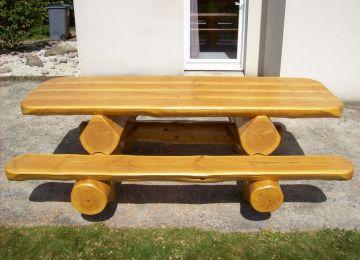 Table De Jardin En Bois Rondin | Idea Bois Nicolas à Bénesse Et Dax ...